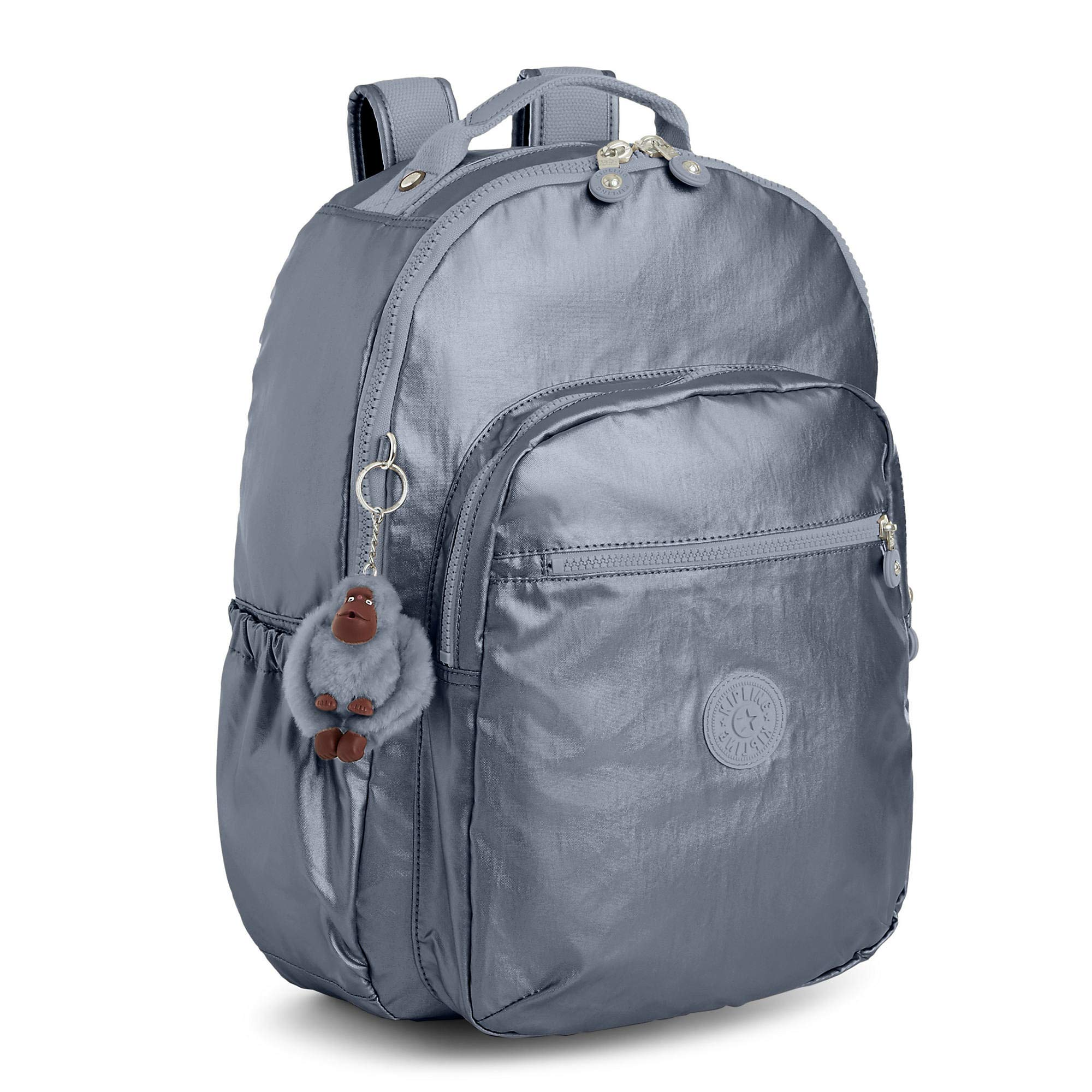 Kipling Seoul Go Large Metallic 15'' Laptop Backpack One Size Steel Grey Metallic by Kipling (Image #2)