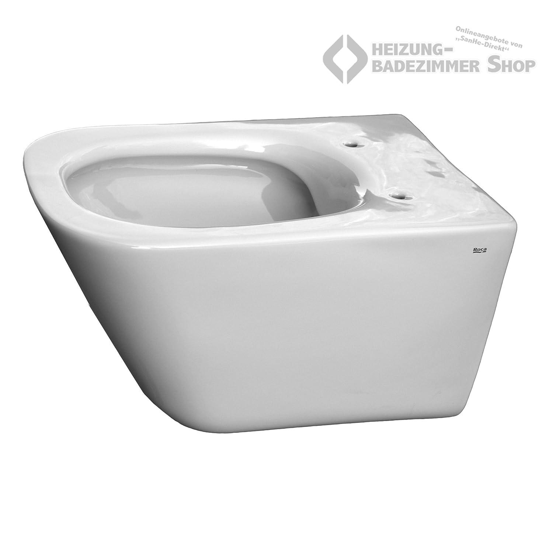 Tiefsp/ül-WC Roca WC Gap Wand-WC sp/ülrandlos wei/ß