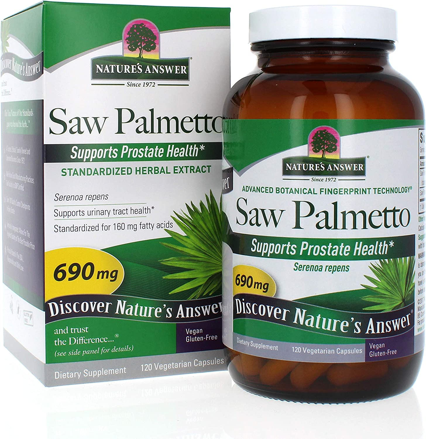Nature's Answer Saw Palmetto Extract Vegetarian Capsules, 120-Count: Health & Personal Care