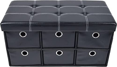 Achim Home Furnishings Collapsible 6 Drawer Storage Ottoman