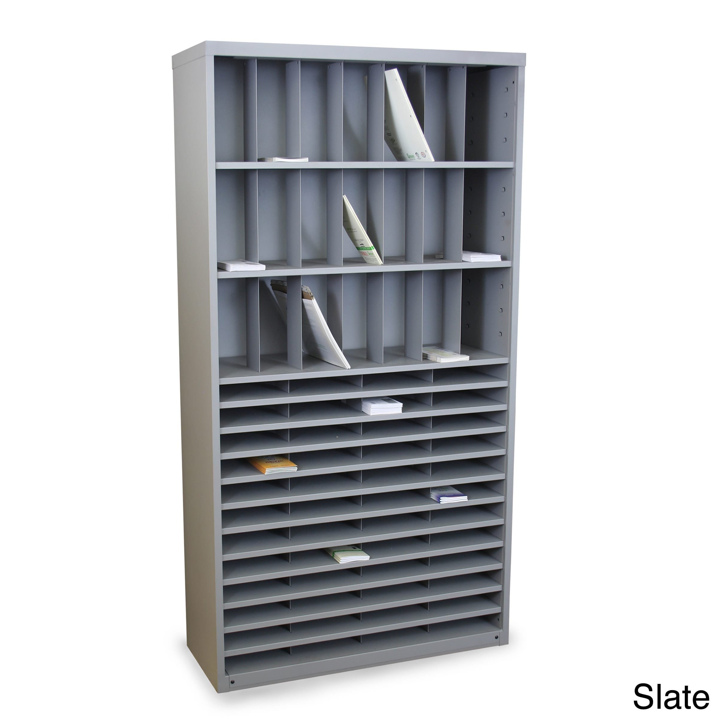 Mailroom Horizontal/Vertical Sorter with 69 Pockets Finish: Slate Gray