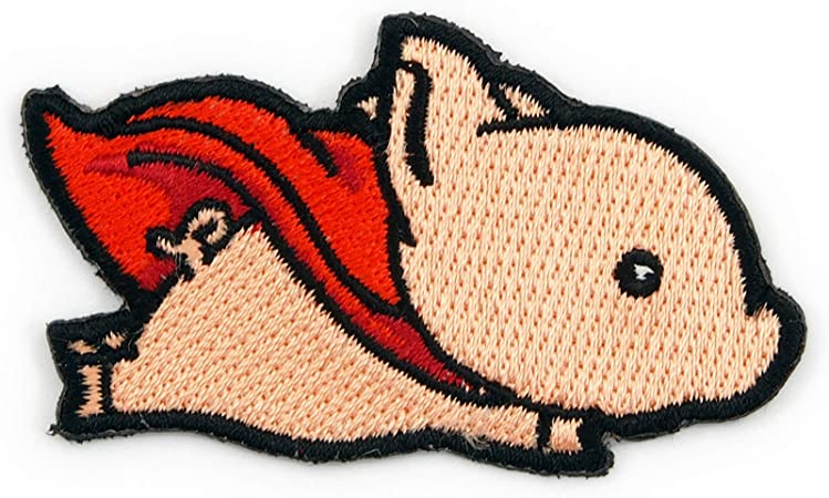 When Pigs Fly  Flying Pig DIY Applique Embroidered Iron Sew on Patch Craft Motif Cute Gift Idea Animal Lovers Patches For Jackets UK Funny