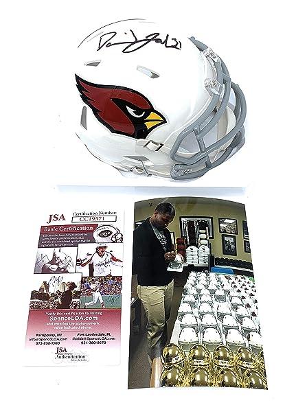 101ef0a1992 David Johnson Arizona Cardinals Signed Autograph Speed Mini Helmet JSA  Certified