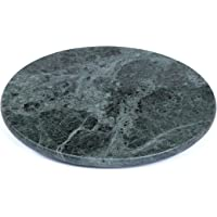 """Creative Home 74723 Natural Green Marble Stone 12"""" Round Cheese Board Serving Platter"""
