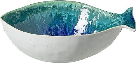 Ocean Swirl Blue Pottery Salad Bowl Pottery Serving Bowl Ceramic Pasta Bowl Handmade Pottery N