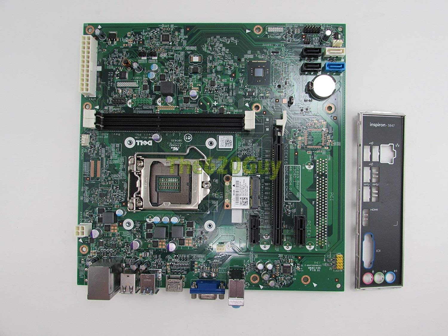 Dell Inspiron 3847 MT Socket LGA 1150 Motherboard 88DT1 088DT1 + I/O + WLAN Card (Renewed)