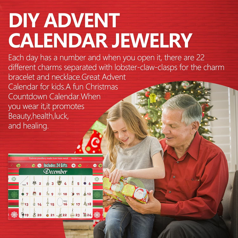 Conjunto de collar con 22 abalorios de Adviento con calendario de ...