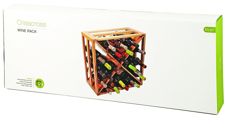 True Fabrications Crisscross Wine Rack Amazonca Home Kitchen