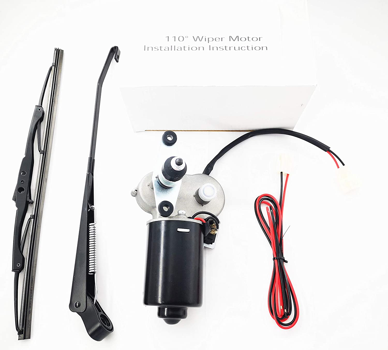Multiple Wiper Sizes 12 Volt Electric Windshield Wiper Motor Kit ...