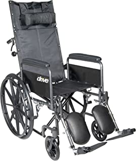 Drive Medical SSP20RBDFA Silver Sport Reclining Wheelchair with Elevating Leg Rests  sc 1 st  Amazon.com & Amazon.com: Drive Medical Silver Sport Reclining Wheelchair with ... islam-shia.org
