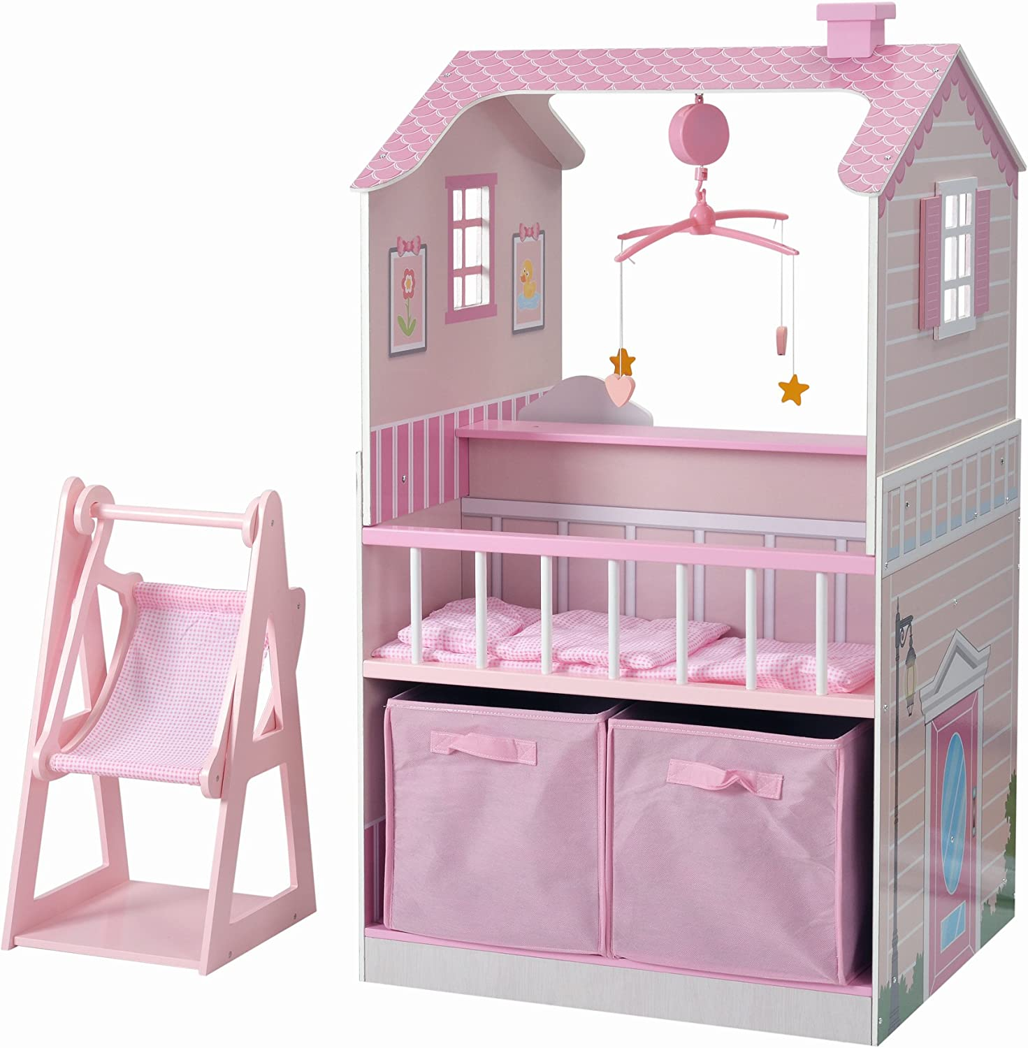 Teamson Kids All in One Baby Doll Nursery Station for Dolls Nursery Center, 18""
