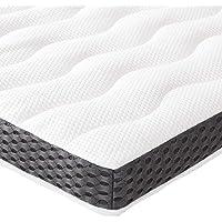 Amazon Basics - Cubrecolchón de espuma con memoria confortable , 7 cm - 80 x 190 cm