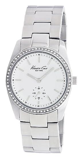 Kenneth Cole KC4722 - Reloj analógico de cuarzo para mujer con correa de acero inoxidable, color plateado: Kenneth Cole: Amazon.es: Relojes