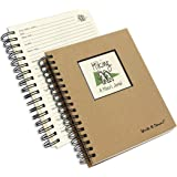 Journals Unlimited JU-30 Hiking, A Hiker's Journal - Kraft Hard Cover (prompts on every page, recycled paper, read more...)