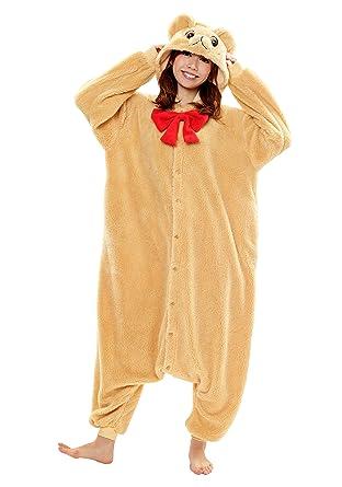 9be498043 Amazon.com  Teddy Bear Kigurumi (Beige)  Clothing