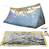 Semptec Urban Survival Technology Notzelt: Survival-Set mit Notfall-Zelt und Folien-Schlafsack (Survival Kit)