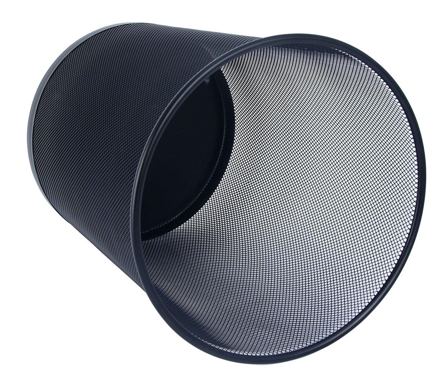 Wedo 65201 Papierkorb Office (18 l, Drahtmetall) schwarz: Amazon ...