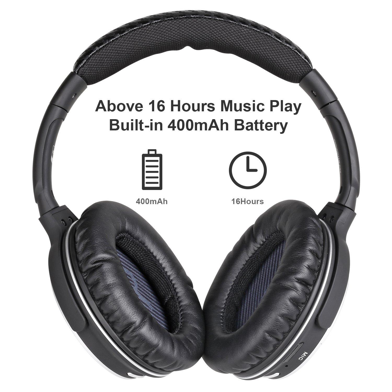 Wireless & Wired Over Ear Auriculares Mixcder hd401 Bluetooth estéreo Auriculares con apt-X Audio, 16 Horas Tiempo de Juego, diseño portátil para iPhone ...