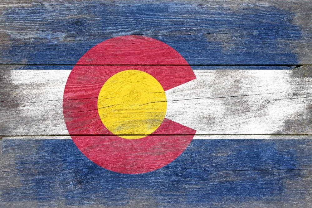 Rustic Colorado State Flag (24x36 Giclee Gallery Print, Wall Decor Travel Poster) by Lantern Press