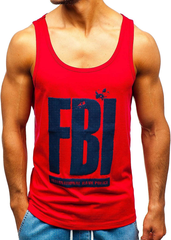 BOLF Hombre Camiseta B/ásica sin Mangas Tank Top Escote Redondo Estilo Diario 3C3