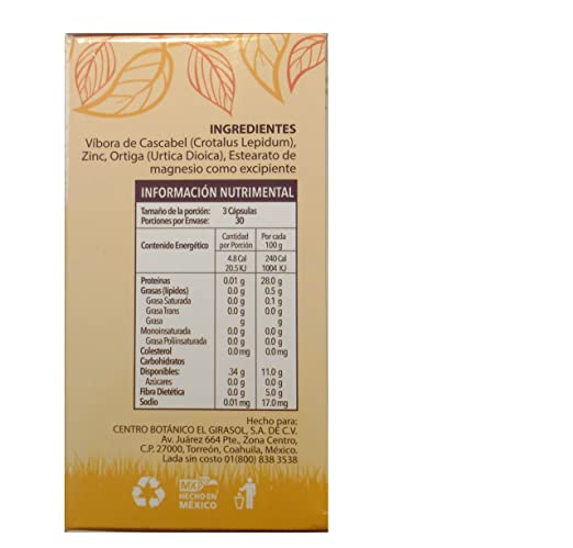 Amazon.com: Vibora de Cascabel 90 Capsules 500 mg ea, Rattlesnake Powder Dietary Supplement: Health & Personal Care