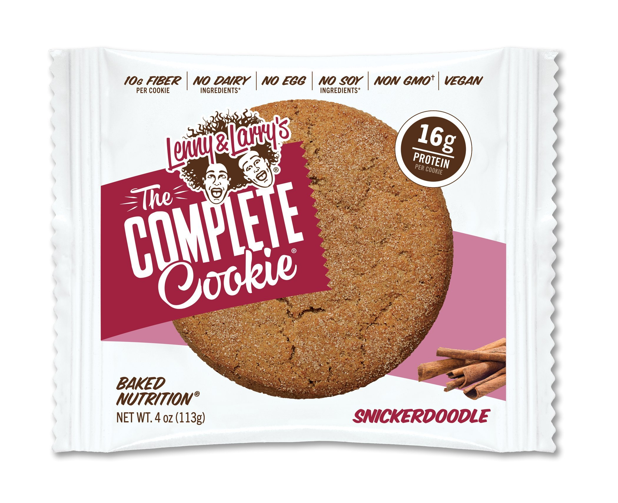 Lenny & Larry's Complete Cookie 4 oz Pack of 12 Case of 6 (Snickerdoodle)