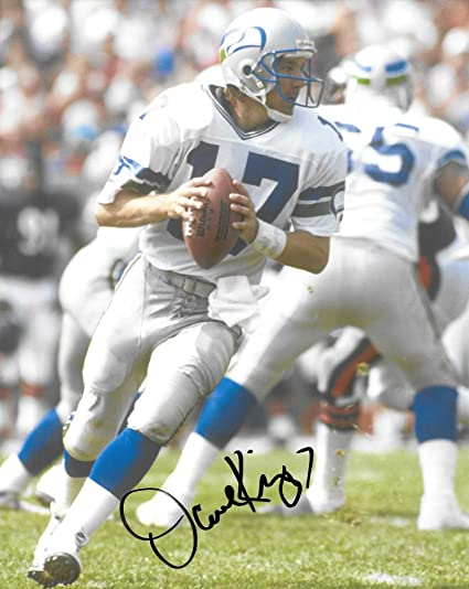 84228c200 Dave Krieg, Seattle Seahawks, Ring of Honor, Signed, Autographed, 8X10 Photo