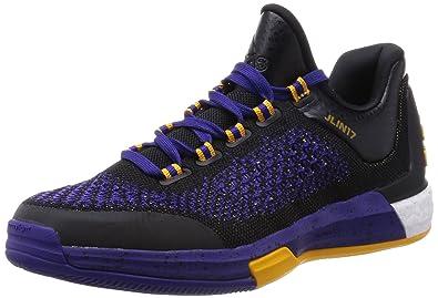 adidas Performance 2015 Crazylight Boost Premium Jeremy Lin Chaussures de  Basketball Homme Noir Violet 1b9b41d07593