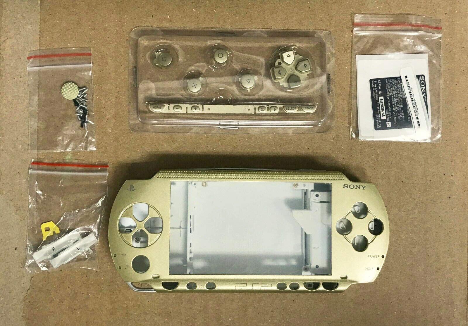 Full Housing Shell Case Cover Replacement Kit for PSP 1000 1001 Fat Gold