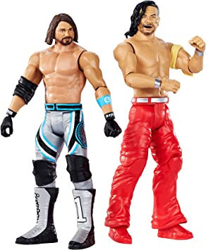 Mattel WWE-Wrestlemania-Pack de 2 figuras de acción luchadores AJ Styles vs Shinsuke Nakamura, juguetes niños 8 años, multicolor GDC04: Amazon.es: Juguetes y juegos