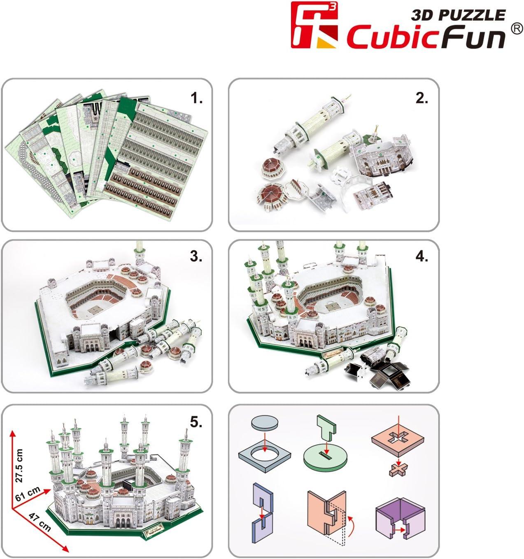 PUZZLE 3D MASJID AL-HARAM 249 PIEZAS 61 X 47 X 27 CMS