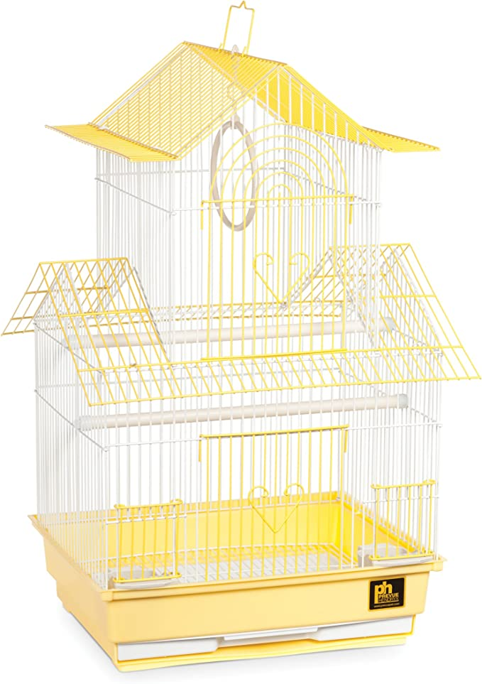 Prevue Hendryx SP1720 – 1 Shanghai Periquito Jaula, Color Amarillo y Blanco