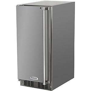 AGA Marvel MO15RAS2LS Outdoor Refrigerator with Lock, Left Hinge Stainless Steel Door, 15-Inch