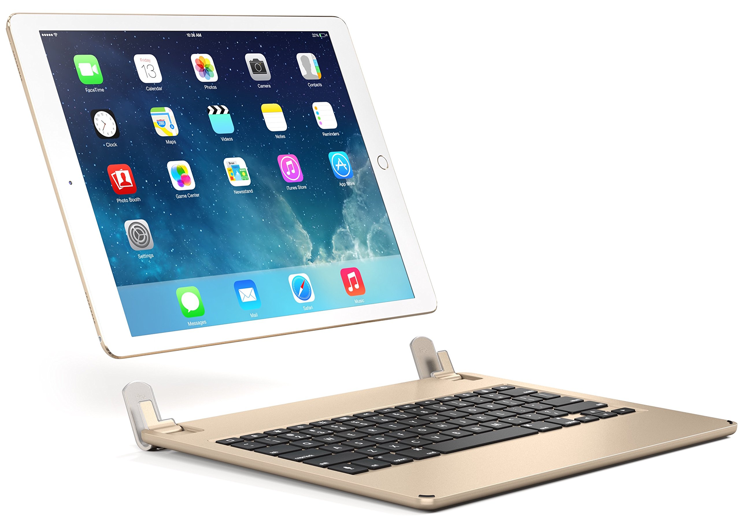 Brydge 12.9 Bluetooth Keyboard for 12.9'' iPad Pro (Gold) by Brydge (Image #2)