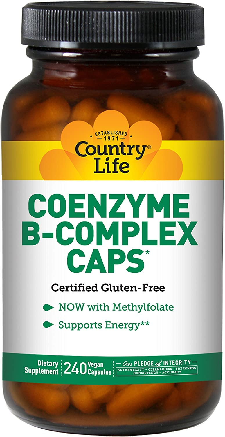 Country Life - Coenzyme B-Complex with Methylfolate - 240 Vegan Capsules
