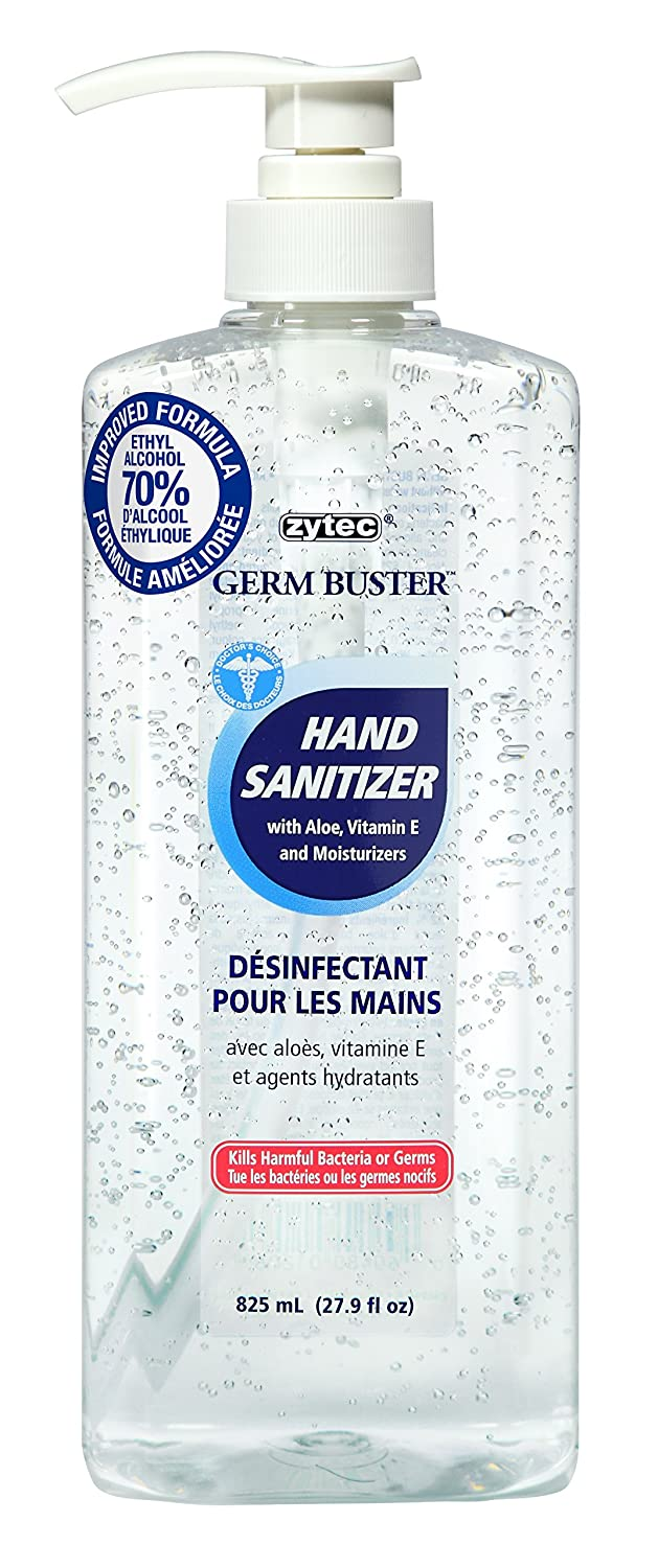 zytec Germ Buster Hand Sanitizer with Aloe (Clear Gel), 825ml Empack Spraytech Inc. 1206