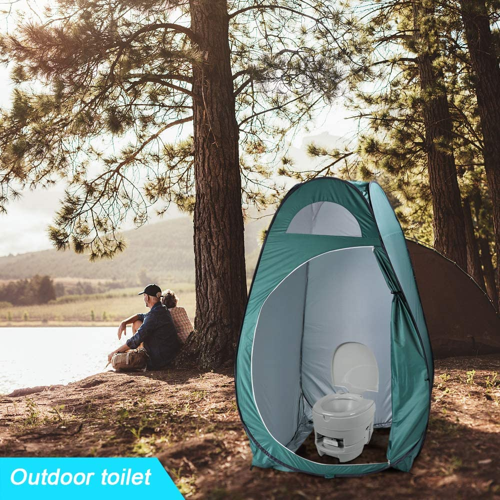 Camp Toilet,Sun Shelter Camp Changing Dressing Room,Army Green HomVent Pop Up Privacy Tent,Portable Outdoor Shower Tent