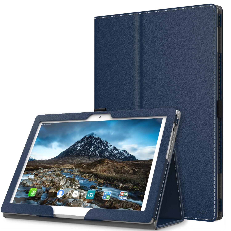Lenovo Tab 4 / Tab 4 Plus 10'' Case - MoKo Ultra Compact Premium Slim Folding Stand Cover Case with Auto Wake & Sleep for Lenovo Tab 4 / Tab 4 Plus 10.1 Inch HD Tablet 2017 Release, Indigo