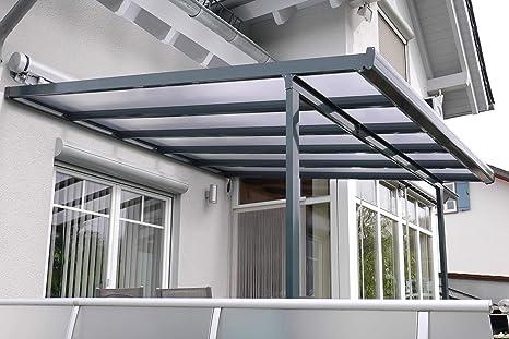 Gutta prikker-überdachungen aluminio, antracita, tipo F, 5460 mm ...