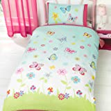 """Just Contempo """"Kids Butterfly"""" Duvet Cover Set, Pink, Single"""