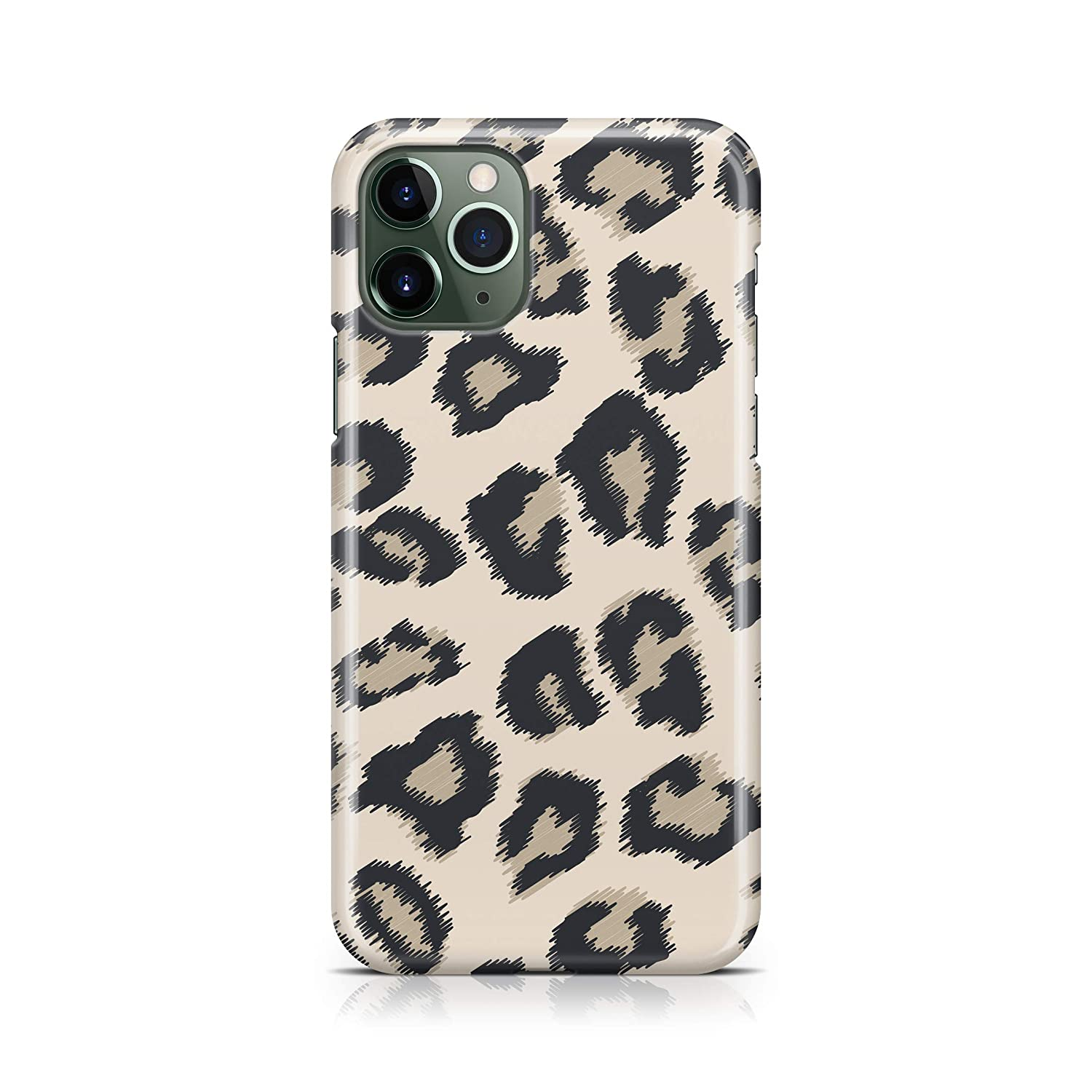 Beige Cheetah Phone Case For iPhone 11 Case Milk Leopard Pattern Protective Cover A740