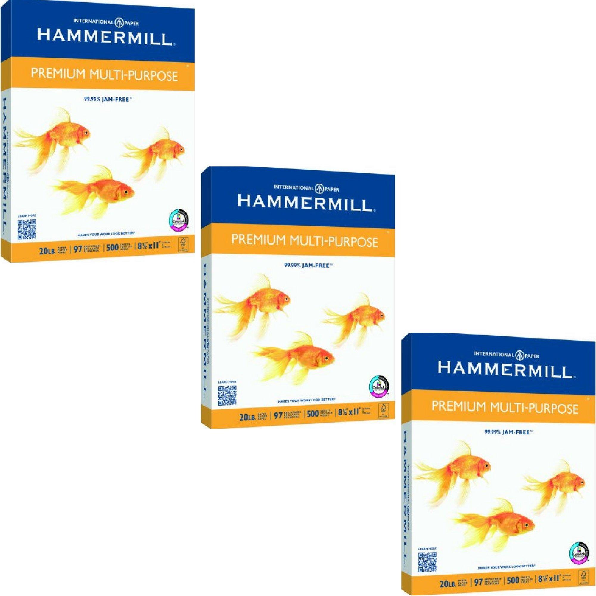 Hammermill Premium Copy & Multipurpose Paper - 3 REAMS