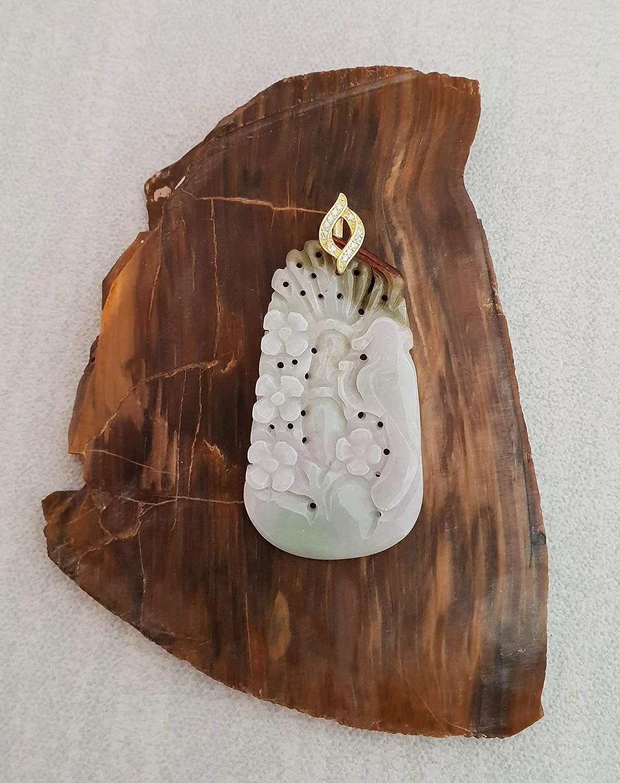 Flower Jadeite Jade Pendant for Necklace JadeiteRoom Burmese Burma Gemstones Jewelry Natural Grade A Type A Jade Light Green