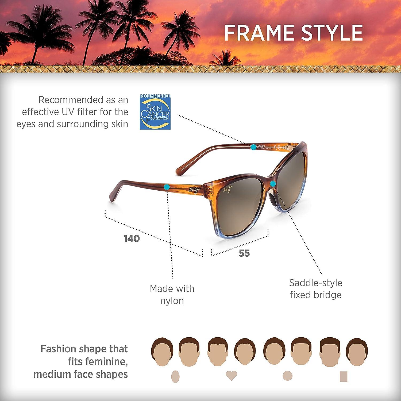 a6a68c2da5 Amazon.com: Maui Jim Sunglasses Alekona HS79-18B Caramel with Blue Fashion  Frame with Patented PolarizedPlus2 Lens Technology, Polarized HCL Bronze  Lenses: ...