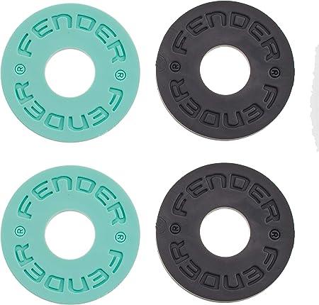Fender ストラップロック Fender® Strap Blocks 4-Pack, Black and Surf Green (2)