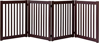 """product image for Dynamic Accents Amish Craftsman Highlander Series Solid Wood Pet Gates are Handcrafted 32"""" High - 4 Panel/Mahogany"""