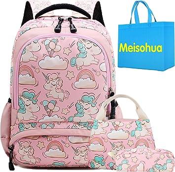 Pink Galaxy Schulrucksack Rucksack Einhorn Schultasche Set reiserucksack für