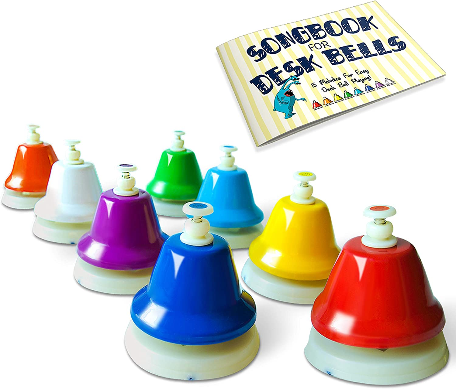 Miniartis Chroma Hand Desk Bells Set Diatonic 8 Colorful Notes Hit On Top Feature Songbook Carry Case Included Great Holiday Birthday Gift For Kids Amazon Co Uk Musical Instruments