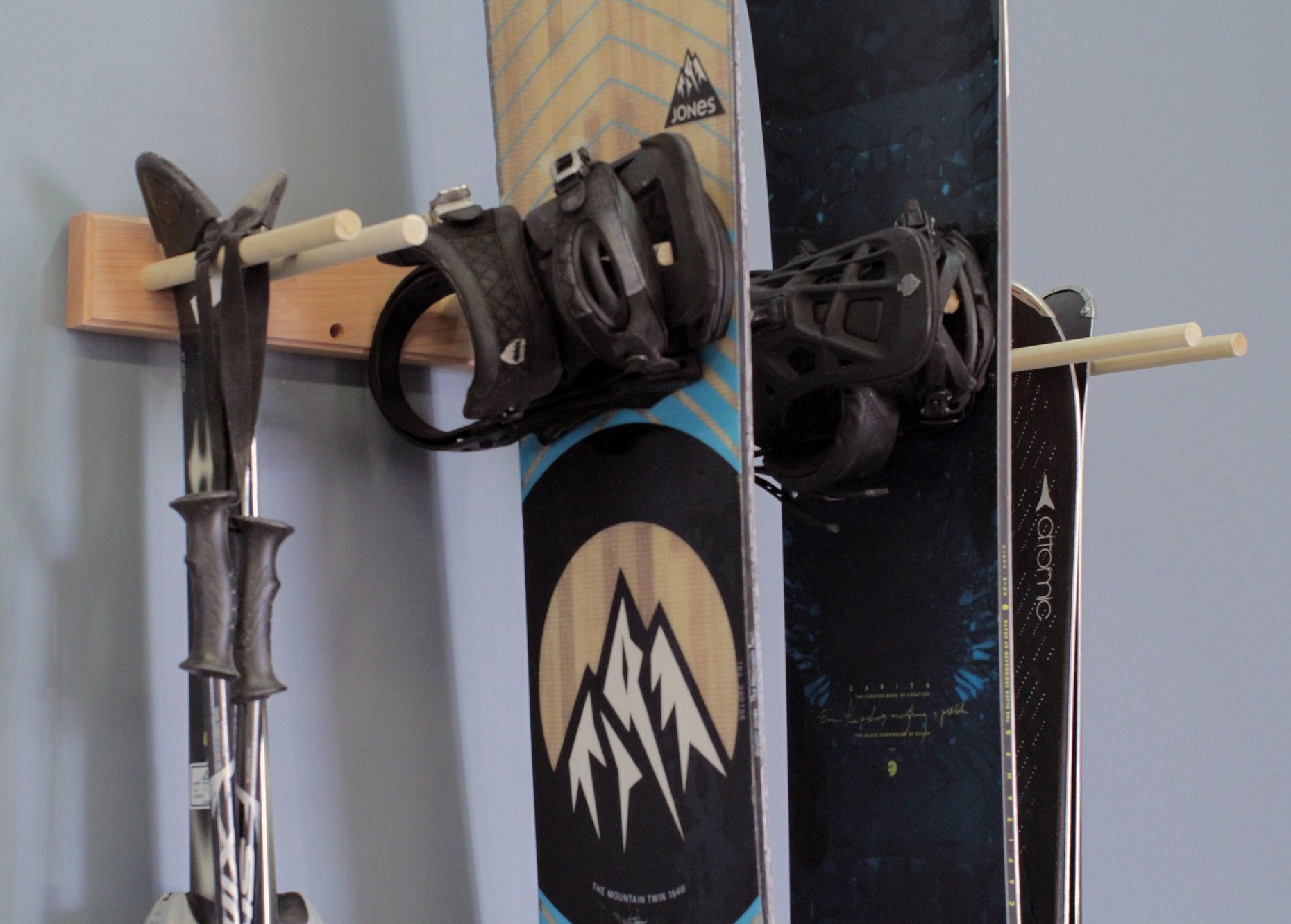 Snowboard Ski Wall Mounted Storage Rack by Pro Board Racks