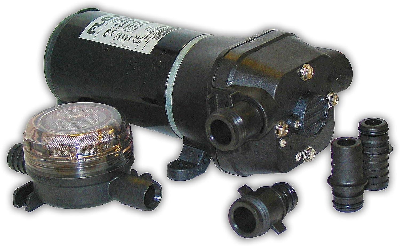 FloJet 04125114A Marine Freshwater Bilge Pump (5-GPM, 12-Volt, 11-Amp) , Black
